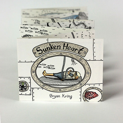 Artist: Bryan Kring Title: Sunken Heart Media: Letterpress printed, with hand watercoloring Date: 2013 Price: $450 Location: Oakland, CA