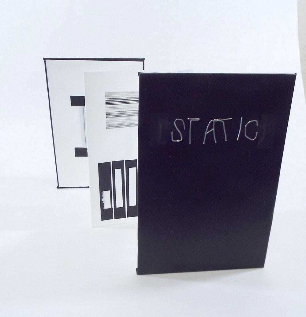 Artist: Billy Luc Title: Static/Barcode Media: Micron, pen, fujifilm polaroid, black electrical tape Date: 2017 Price: NFS Location: Southgate, MI