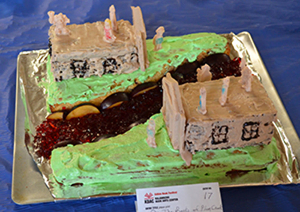 """On the Banks of Plum Creek"" by Jana Schulman and Dan Williams; 2016 Edible Book"