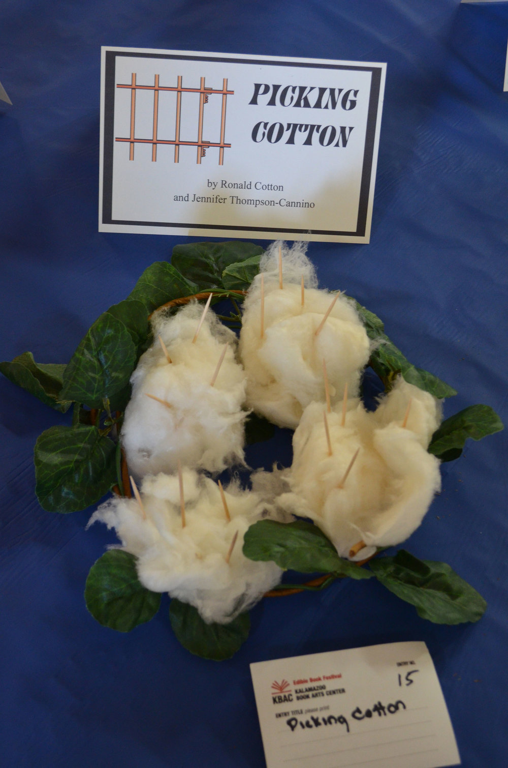 """Picking Cotton"" by Brown Sugar Book Club; 2016 Edible Book"