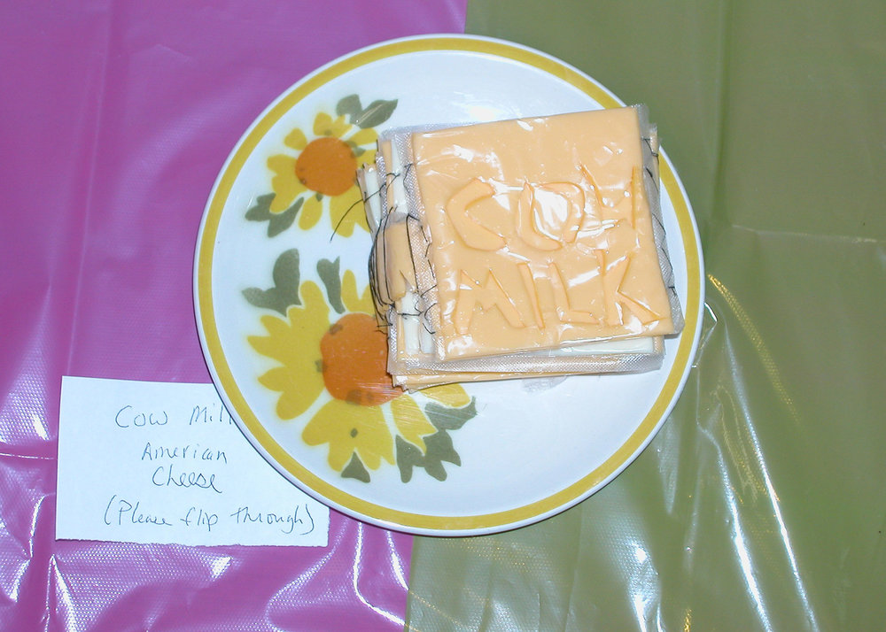 """""""Cow Milk"""" by Katie Platte; 2007 Edible Book Festivall entry"""