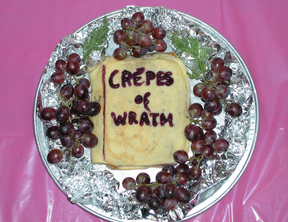 """""""Crepes of Wrath"""" by Eve Reid; 2007 Edible Book Festivall entry"""