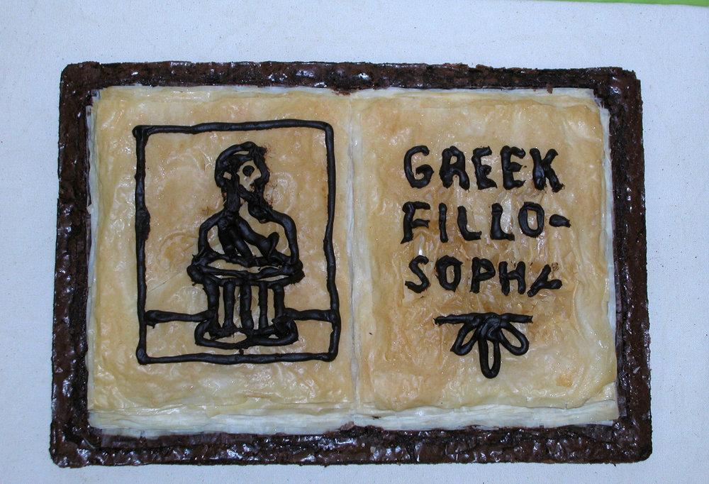 """Greek Fillosophy"" by Jeff Abshear; 2007 Edible Book Festivall entry"