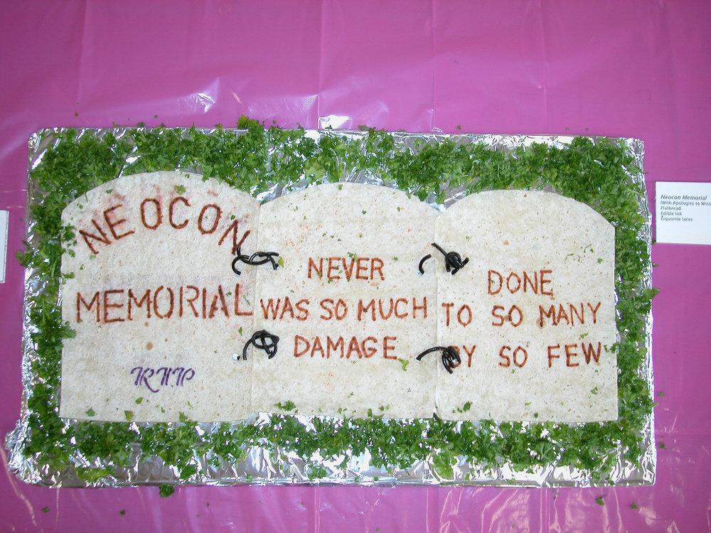"""NeoCon Memorial"" by Rosalind Robbert; 2007 Edible Book Festivall entry"