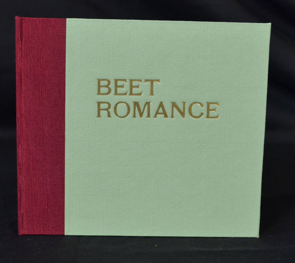 Daniel Schneider, Beet Romance, Letterpress printed with lead type and linocuts, 2016