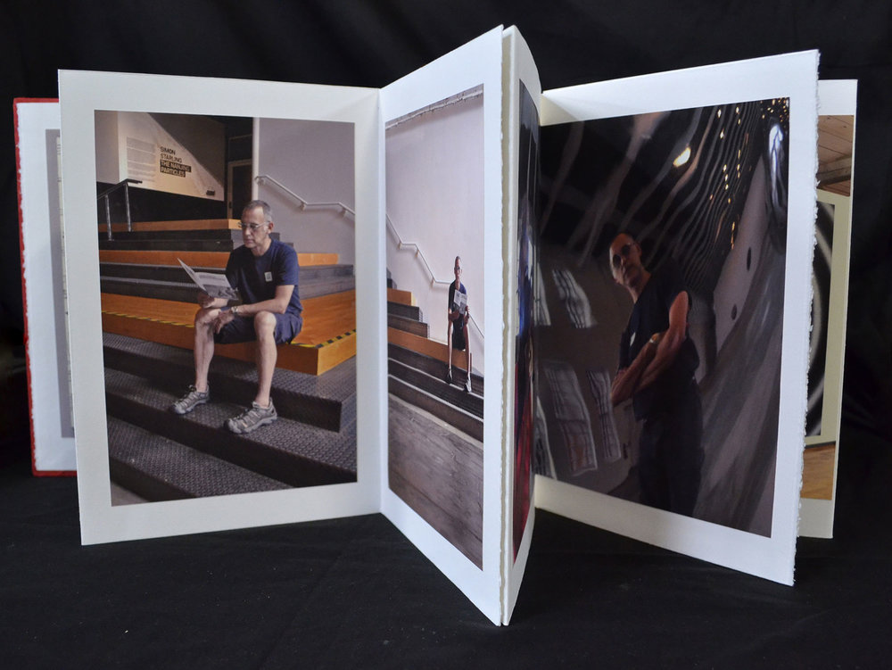 Laura Holland, Museum Rooms, Digital Prints in Accordion Book Format, 2011