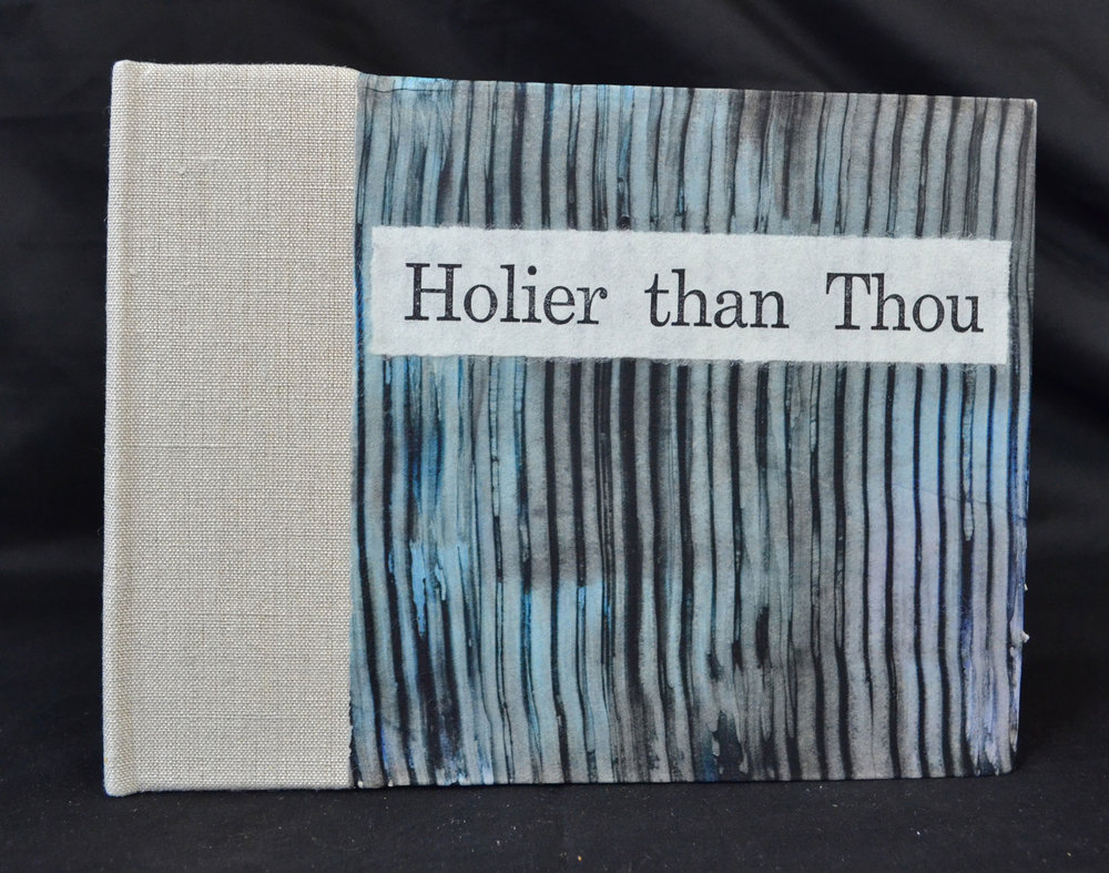 David Johnson, Holier Than Thou, Intaglio, Chinecolle, letterpress, paste paper, 2015