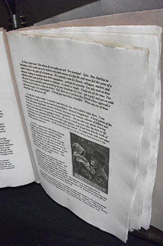 "Book by Ladislav Hanka, Binding by Peter Thomas, ""Remembering Jan Sobota,"" Intaglio printed book, 2014"