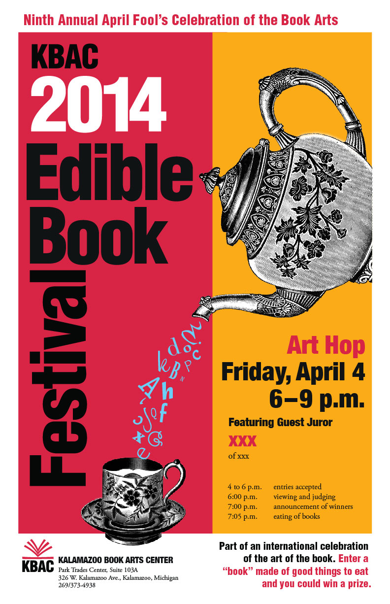 Edible Book Poster designed by Elizabeth King