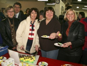 """The Tiara Book Group with """"Ordinary Peeps"""" winner of the Peoples Choice award"""