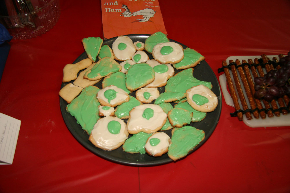 """""""Green Eggs and Ham"""" created by Eleanor and Foster Jones; 2011 KBAC Edible Book entry"""
