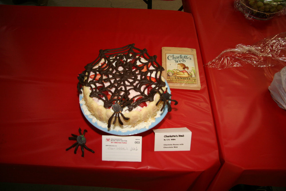 """""""Charlotte's Web"""" created by Mary Platte; C2011 KBAC Edible Book entry"""