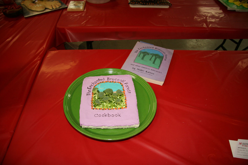 """JUDGE'S AWARD: """"The Enchanted Broccoli Forest"""" created by: Chris Orsolini; 2011 KBAC Edible Book Winner"""