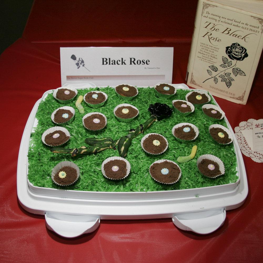 """""""The Black Rose"""" created by Brown Sugar Book Club, 2010 KBAC Edible Book Festival"""