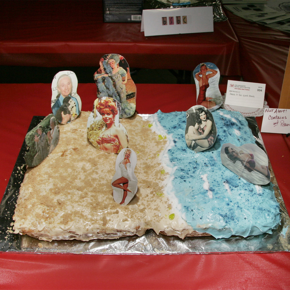 """Dames and the Giant Beach"" created by Tova and Sue Carter, 2010 KBAC Edible Book Festival"