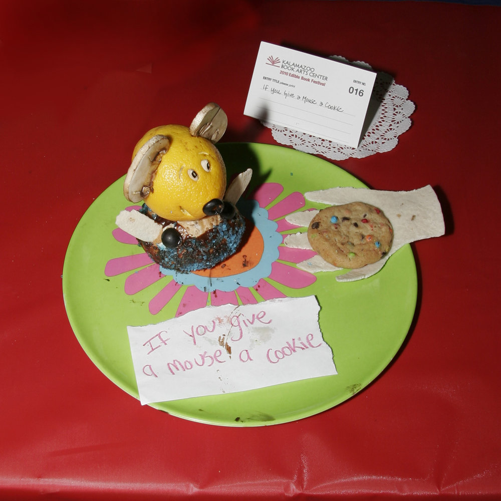 """""""If You Give a Mouse a Cookie"""" created by Julia Gantman, 2010 KBAC Edible Book Festival"""