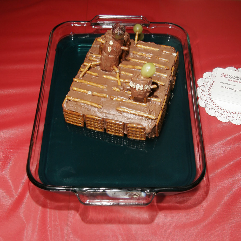 """Huckleberry Finn"" created by Natally Bones & Nevada Rickert, 2010 KBAC Edible Book Festival"