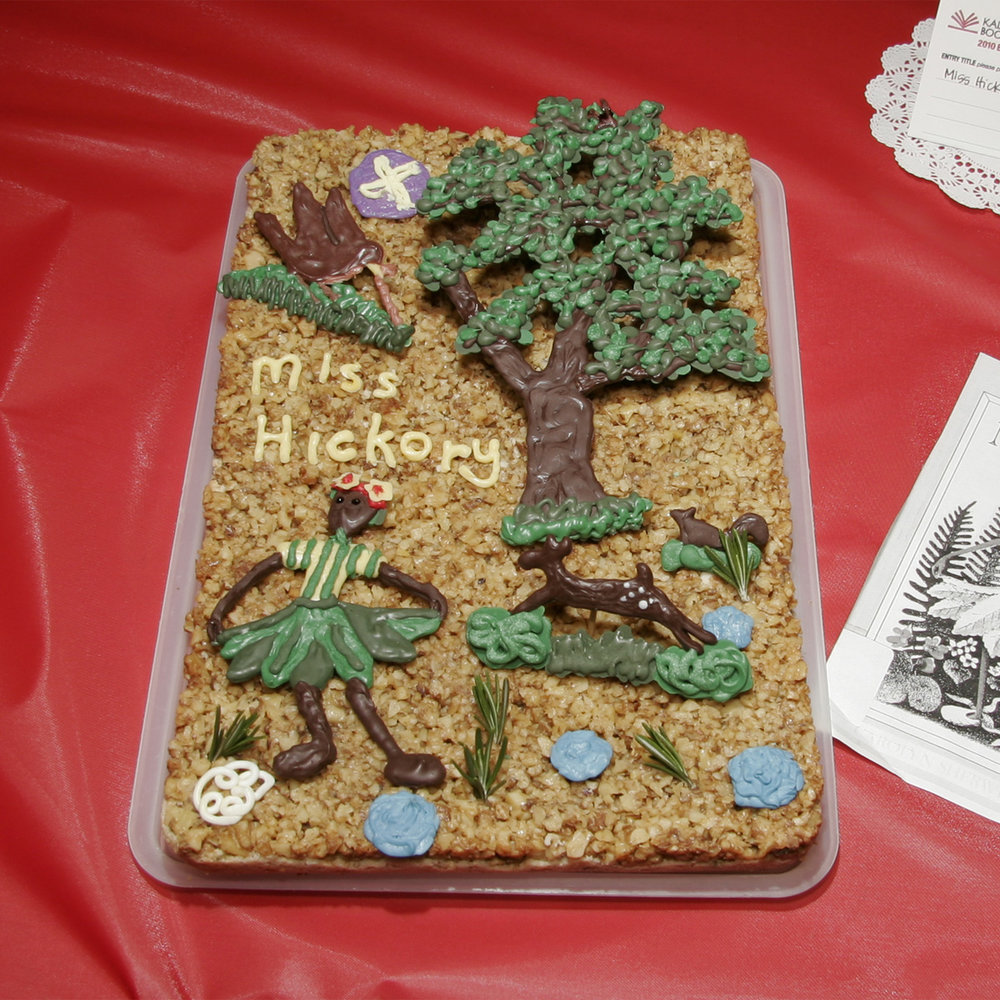"""Miss Hickory"" created by Sara Keller, 2010 KBAC Edible Book Festival"