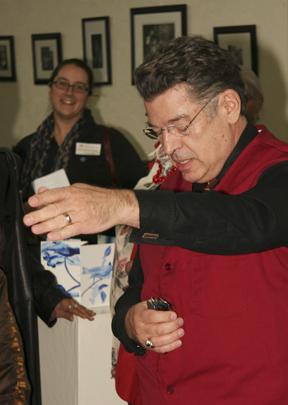 Joe Reish juror of Edible Book 2009