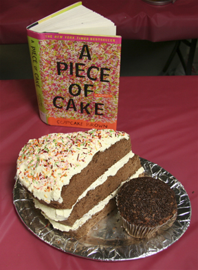 """""""A Piece of Cake by Cupcake Brown"""" by the Brown Sugar Book Club; 2009 Edible Book Festival entry"""