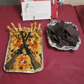 """""""Max Brook's Zombie Survival Dip"""" by Carrie McGath; 2009 Edible Book Festival entry"""
