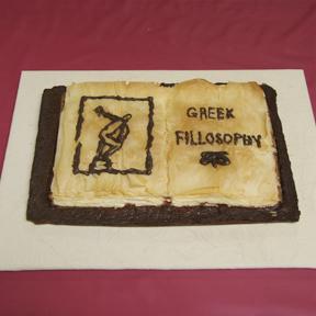 """""""Greek Fillosophy"""" by Jeff Abshear; 2009 Edible Book Festival entry"""