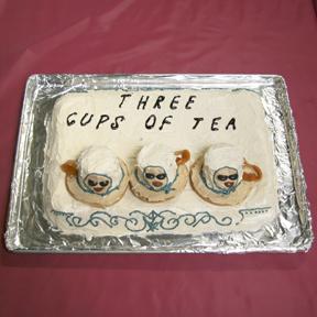 """Three Cups of Tea"" by Sara Keller; 2009 Edible Book Festival entry"