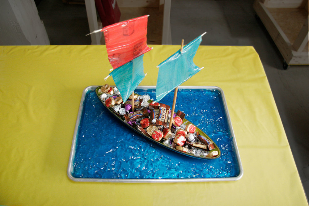 """Gluttony on the Bounty"" by Liz Faust; 2008 Edible Book Festival entry"