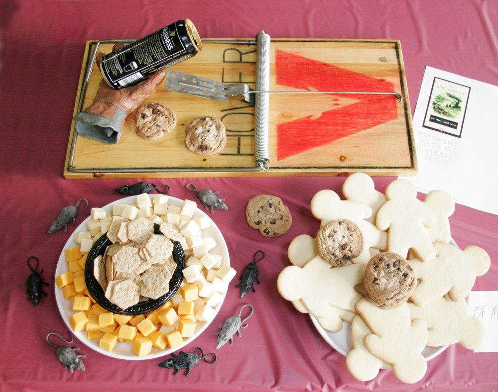 """Of Mice and Men"" by John Hower; 2008 Edible Book Festival entry"