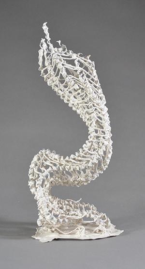 Keeney Swearer, Growth, porcelain, wire.
