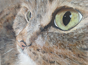 Gracie, Alex Harvey, Oil on canvas.