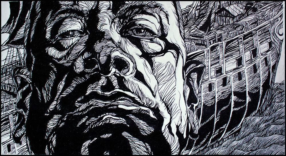 John McKaig, Saints Never Surrender I, drawing