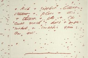 "Jen Bervin: detail, ""The Composite Marks of Fascicle 28"""