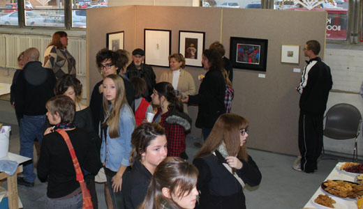 November 4 opening of Handmade Paper Guild and KBAC artists exhibition