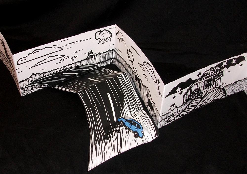 Judy Lynn,  80-West, Block prints, 2012, Valparaiso, IN