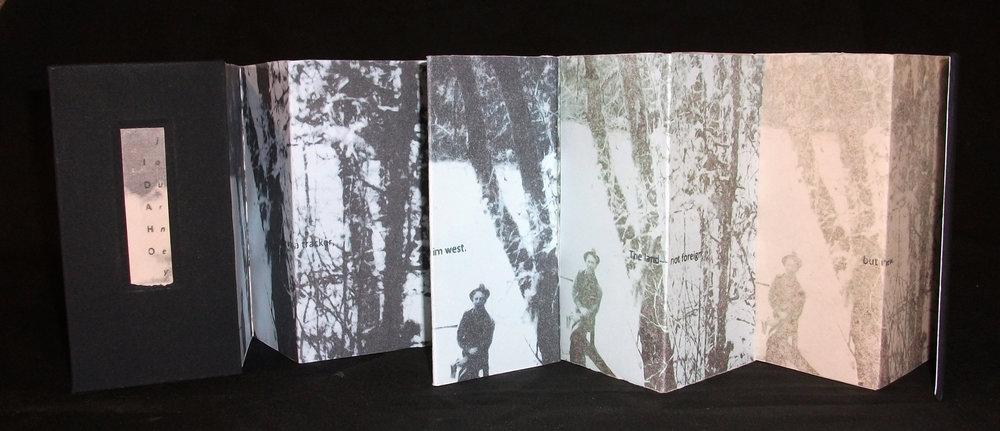 Honor Lee,  Idaho Journey,  Altered Photos, Text, 2012, Kalamazoo, MI