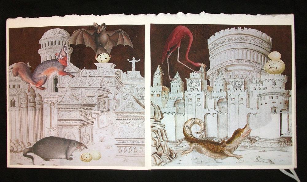 Lynn Skordal,  La Cite Des Animaux,  OOAK Collaged artist Book,2011, Mercer Island, WA