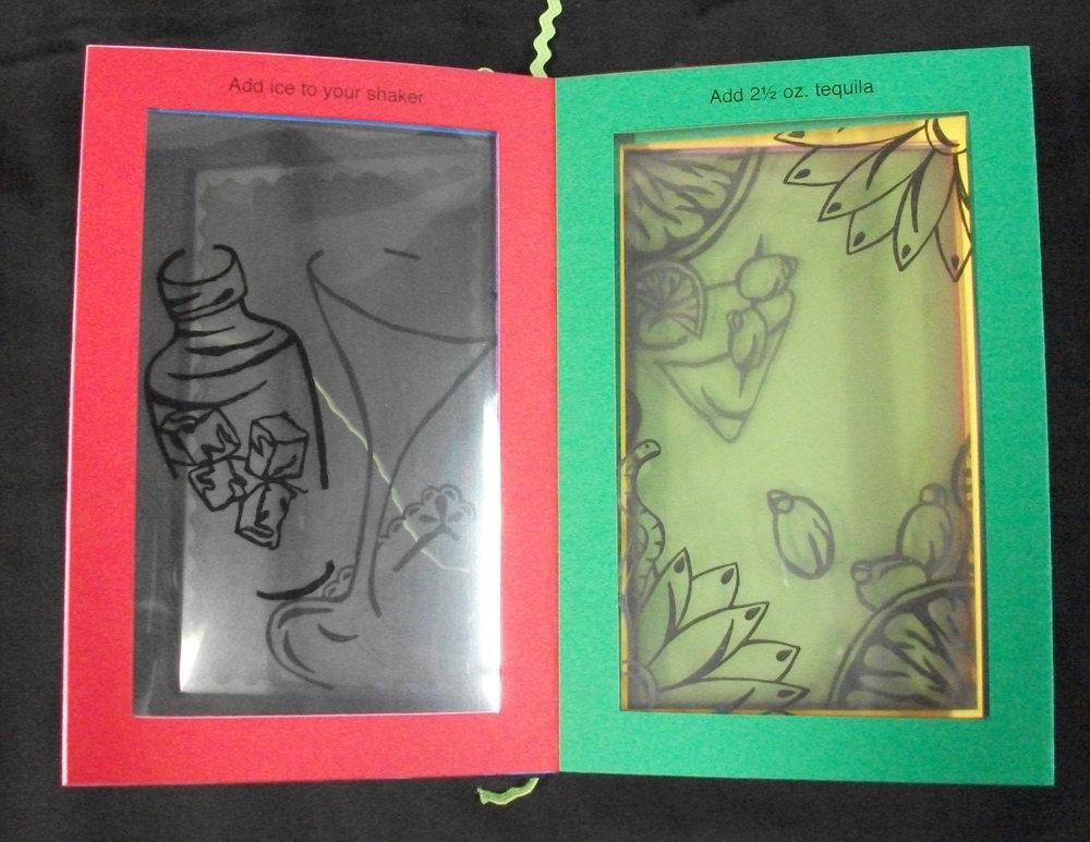 Naomi Adams,  Mexican Martini,  Laser printed and copied onto Cardstock and transparencies, 2010, Denton, TX