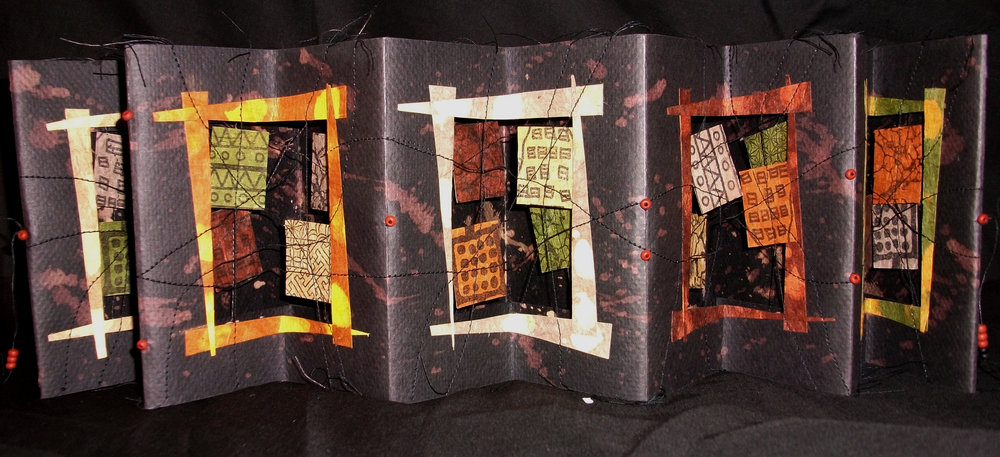 Barbara Bussolari,  Quilted Lives,  Mixed Media, 2009, Hayesville, NC