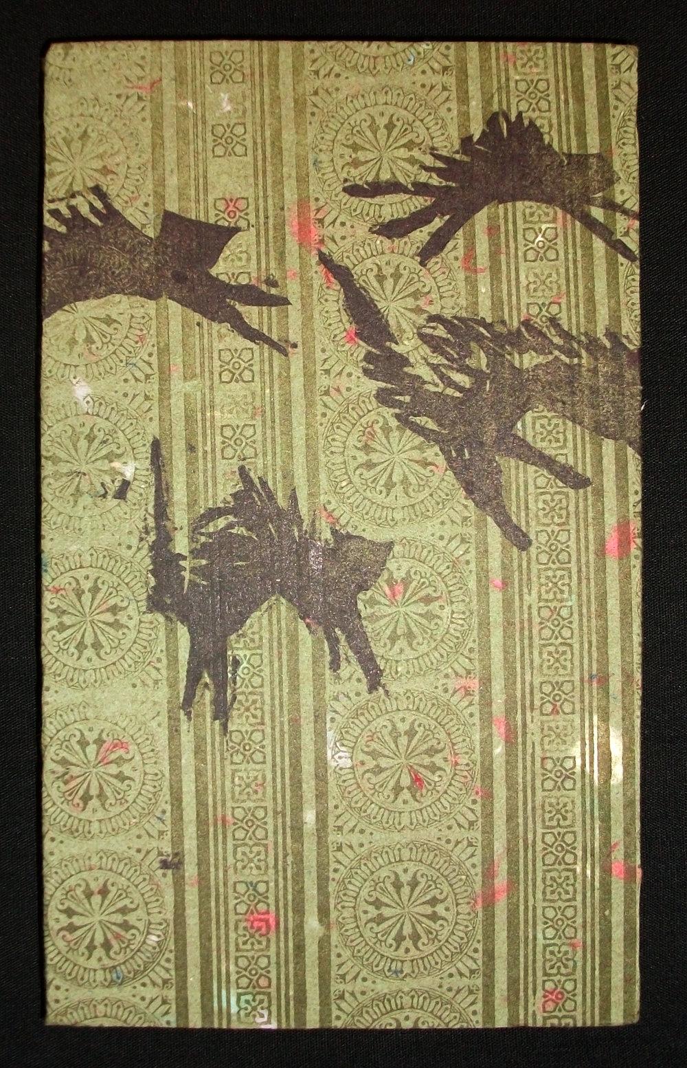 Katie Platte,  Robinson Cursoe's Cats,  Handmade Paper, Letterpress, Woodcuts, 2012, $50