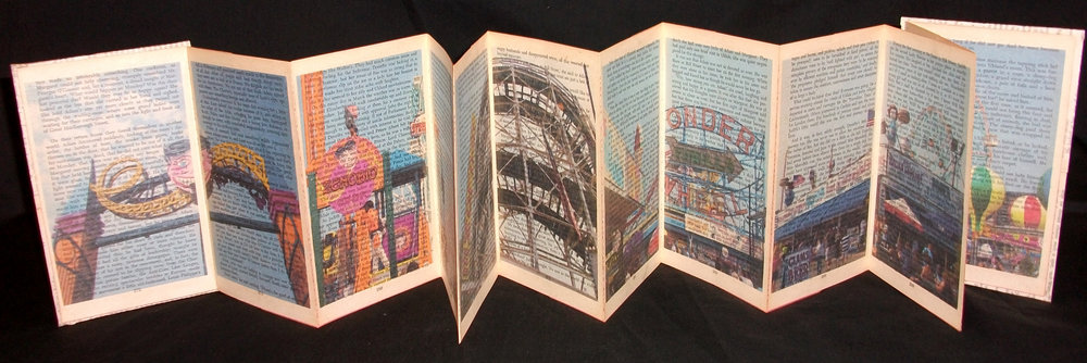 MarleneSeidman,  The Shadow Against the Sky,  inkjet on paper, back romance novel, 2012, Savannah, GA