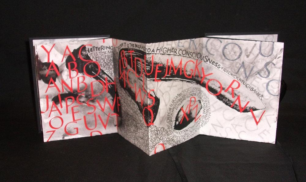 Letters, Kay Ellen Davis, Gouache, Sumi Ink, Kalamazoo 2001