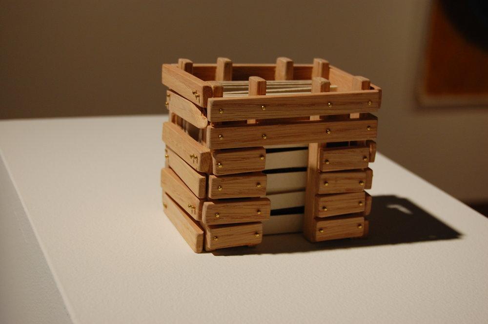 Permit Play/Order, Adam Case Leestma, Oak, Brass, Paper, Ink, Ohio, 2011