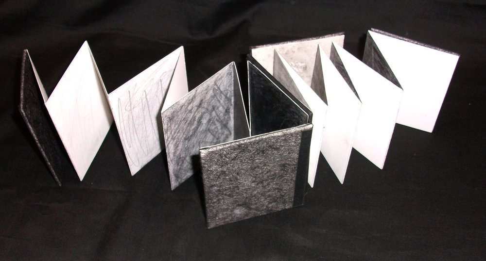 Dual Voids,Alex Mehring, Dos-a-Dos Accordion Graphite, Papers, Wisconsin, 2010,