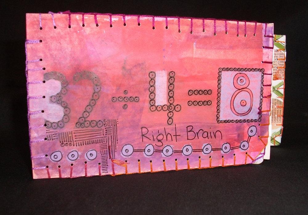 Right Brain-Left Brain, Rae Truillo, Artists Book Mixed Medium, California, 2011