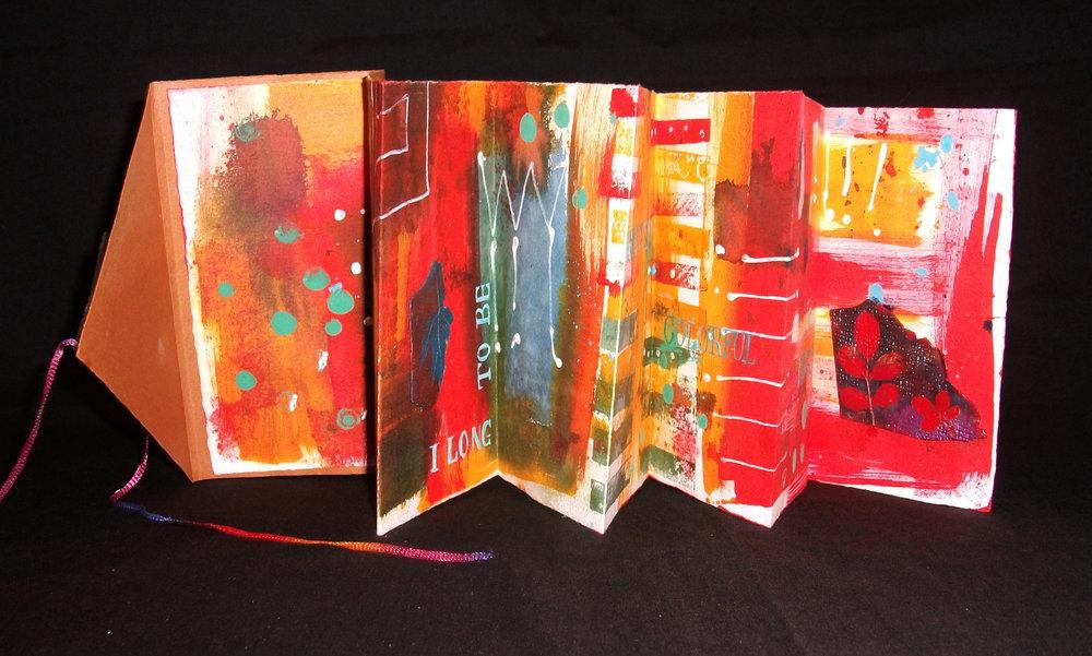 Leaves, Nadine Buck, Acrylic, Arches Text Wove, Polymer Clay, Illinois, 2011