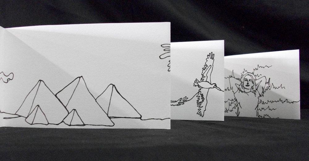 Megan Berner, Daydreams, Drawing Paper, Zerox copy, 2007