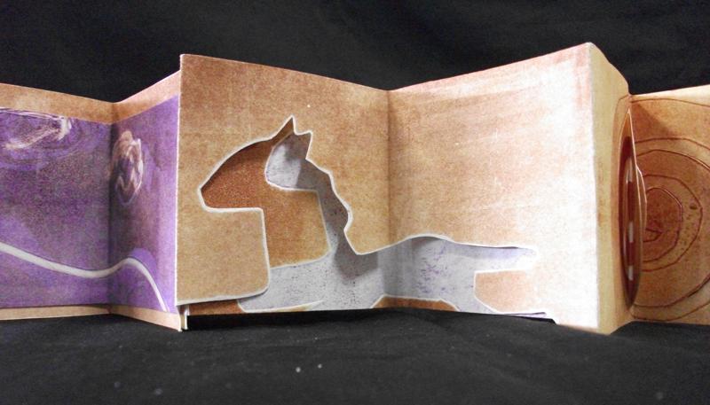 Tatiana Shukhin, When the Horse Meets its Spirit, monoprints, 2009