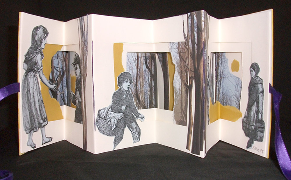 Evelyn Eller, Into the Woods, Mixed Media Collage, 1997