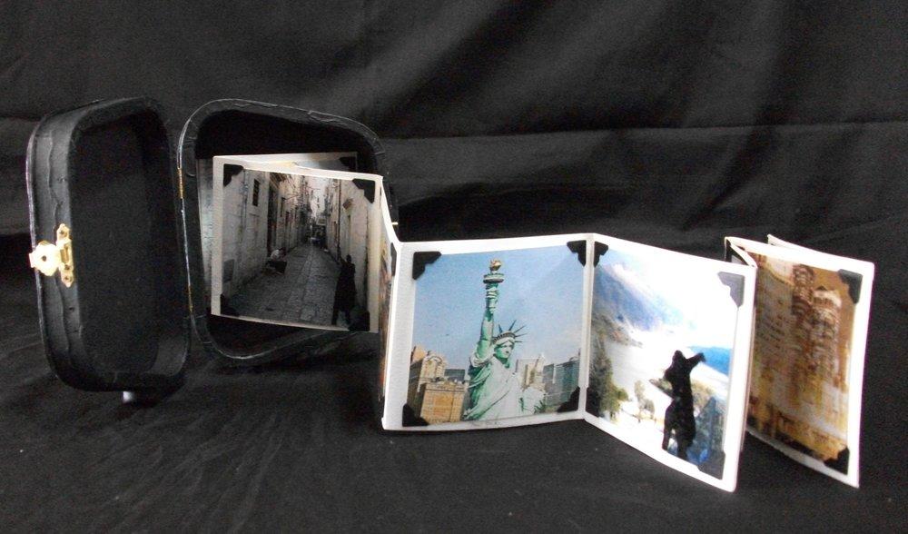 Bonnie Jaswith, Tourist, paper, wood case, 2010
